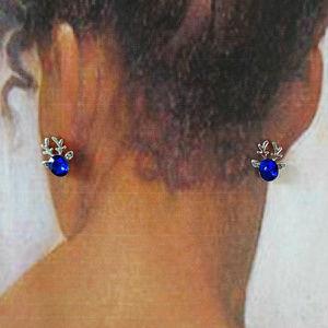 Reindeer Earrings Silver Tone